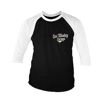 Gas Monkey Garage Baseball Shirt Racing Logo nouveau manchon officiel Homme Noir 3/4