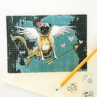 Love Pug Card