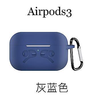 Weiche Silikontasche mit Karabiner für Apple AirPods Pro blau