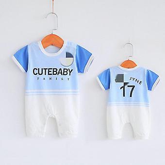 Bodysuit bébé- Jersey d'été Short Sleeve Footable Ha Vêtements