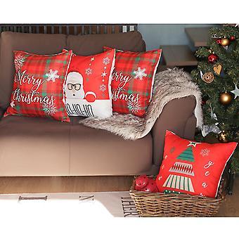 """Hyvää jouluaukiota 18"""" Heitä tyynynpäällinen (sarja 4)"""