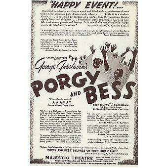 Porgy y Bess (Broadway) Movie Poster (11 x 17)