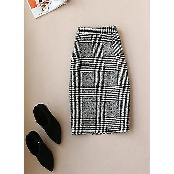 High Quality Winter Women's Suits Skirt Set New Temperament Slim Wool Long