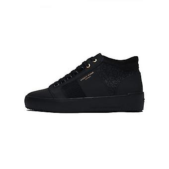 Android Homme Black Rubber Mosaic Propulsion Mid Sneaker