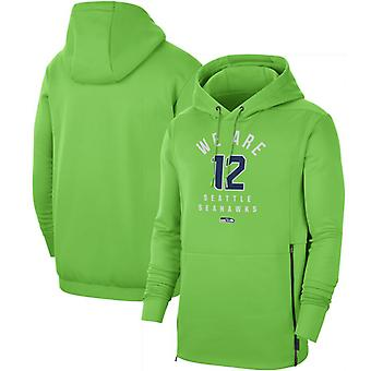 Seattle Seahawks Men's Sideline Local Performance Pullover Hoodie Top WYX009