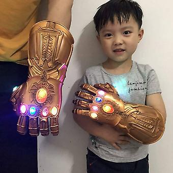 Thanos Infinity Gauntlet Light Handske Superhero Cosplay Handsker Led / voksen