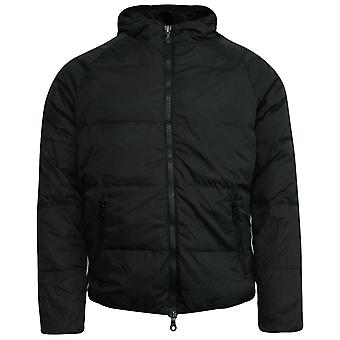 Onitsuka Tiger Mens Hooded Down Padded Winter Coat Black OKJ337 0090 X2B
