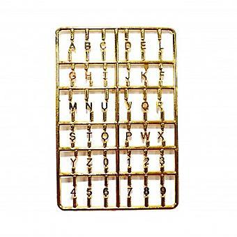 Bonecas Casa Ouro Casa Letras e Números Definir Miniatura Front Door Móveis