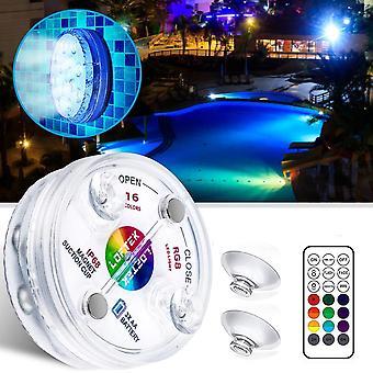 Unterwasser-LED-Rgb-Lichtlampe, mit Rf Remote und Saugnäpfen