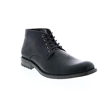 Andrew Marc Drake  Mens Black Leather Chukkas Boots