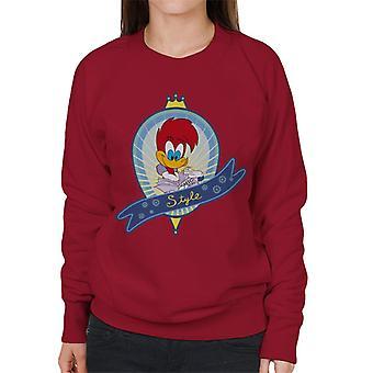 Woody Woodpecker Winnie Style Women's Sweatshirt