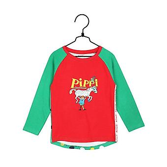 Pippi Longstocking Strongest sweater red/green