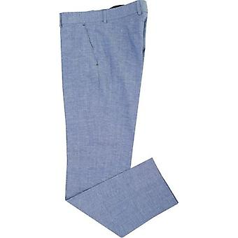 Gibson Suits End On End Linen Mix Trousers