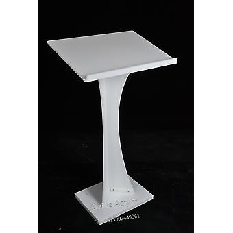 Business Church Podium Lectern, White Acrylic Stand Up Lecture