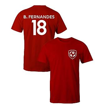 Bruno Fernandes 18 Club Style Player Football T-Shirt
