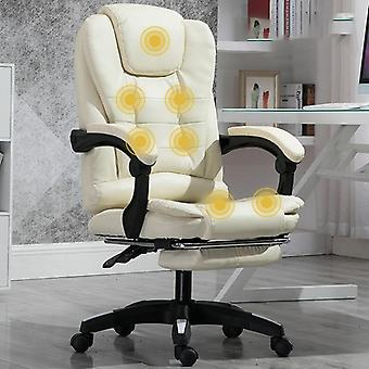 Computer Gaming Chair, Lying Massage, Lifting, Rotatable, Armchair Footrest