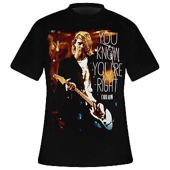 KURT COBAIN Rechter T-shirt
