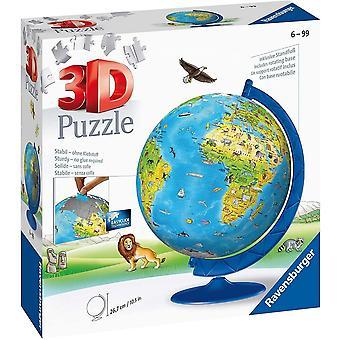 Ravensburger barn og apos;s verden verden 180 stykke 3D puslespill 6+ 12338