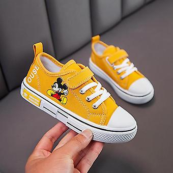 Spring Autumn Canvas Shoes, Cartoon, Mickey Mouse, Sneaker, Breathable, Shoes