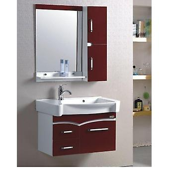 Small Wall Mounted Space Aluminum Cabinet Washroom Ceramics Basin