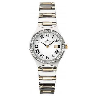 Accurist 8204 Dvě tónované zlaté a stříbrné dámské hodinky z nerezové oceli