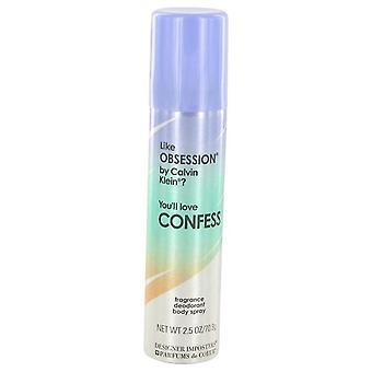 Diseño impostores confiesan cuerpo desodorante Spray por Parfums De Coeur 2.5 oz cuerpo desodorante Spray