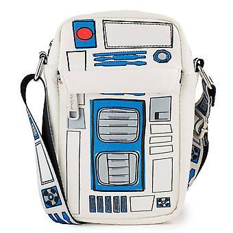 Star Wars R2-D2 Rajatut osat Crossbody Vegaaninen nahkalaukku