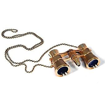 Levenhuk broadway 325f opera glasses (gold, with led light and chain), 3x, with accessory kit