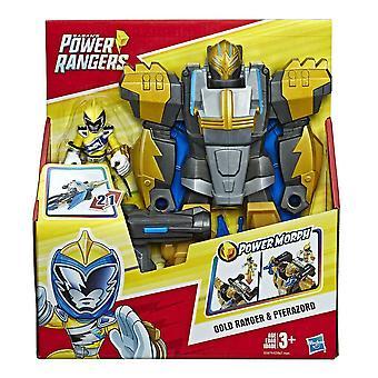 Playskool héros power rangers gold ranger et pterazord