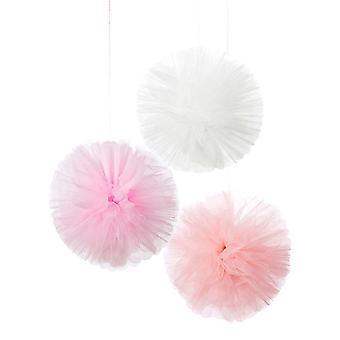 """Fluffed 5.5"""" Tulle Pom Pom Balls"""
