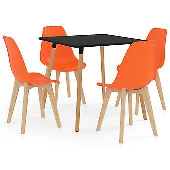 5 Piece Dining Set Orange