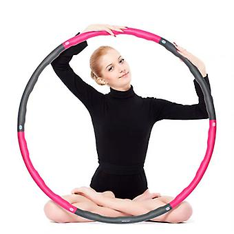 Hula Ring Hoop Adjustable Detachable Fitness Hula Ring Circle Weighted Exercise Hoop Fat Burning Unisex Hoola Hoops