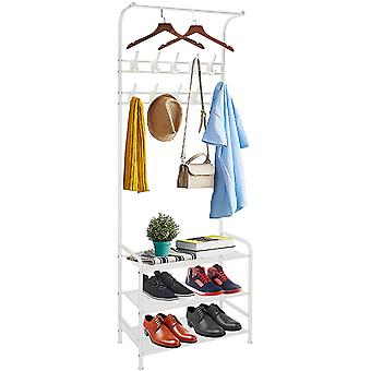 Gerui Metal Coat Rack Standm,Multi Function Entryway Organiser,Free Standing Clothes Stand with