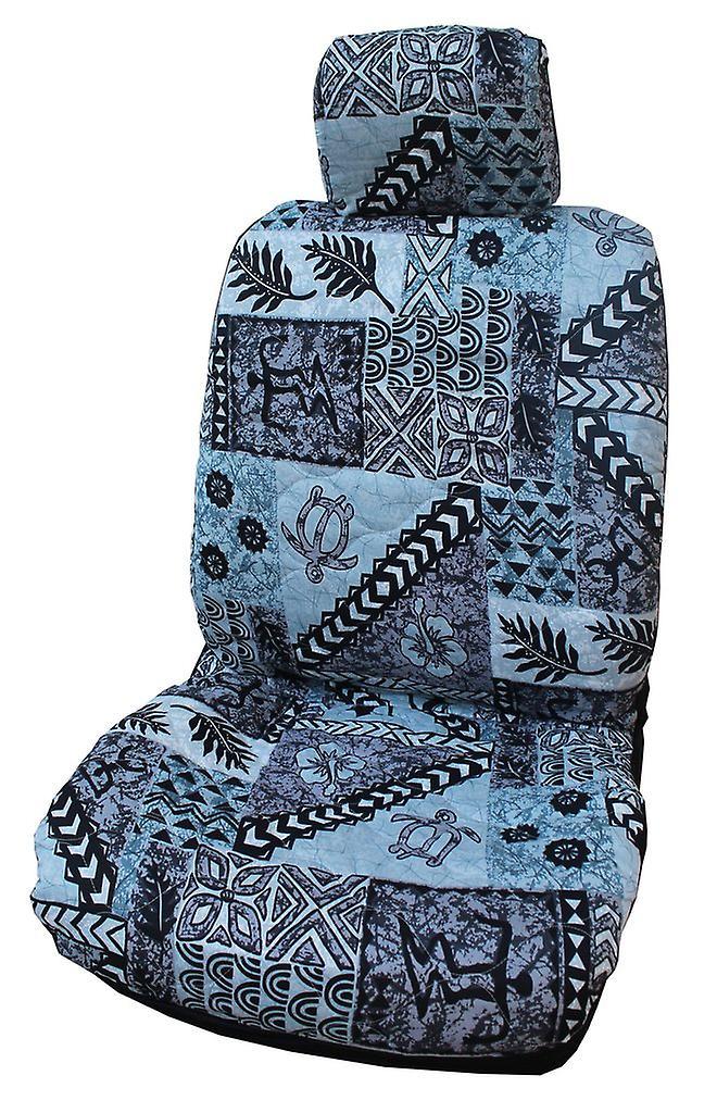 Side Airbag Optional; Tapa Separate Headrests Hawaiian Car Seat Covers