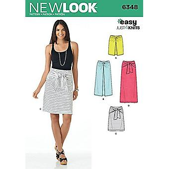 New Look Sewing Patterns 6348 0450 Misses Easy Knit Skirts Size 10-22