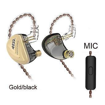 KZ Audio KZ AS12 - In-ear Earbuds - Black / Gold