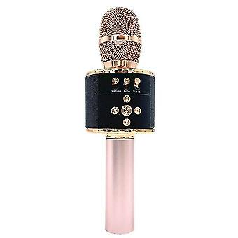 7 Värit led valo usb bluetooth langaton mikrofoni kaiutin kädessä pidettävä mikrofoni ktv karaoke mic musiikkisoitin