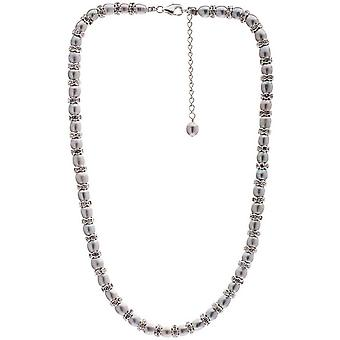 Pearls of the Orient Gratia Freshwater Pearl Rondelle Necklace - Grey