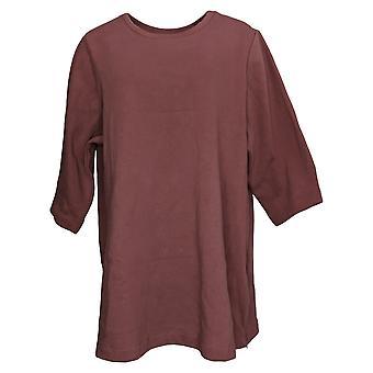 Felpa da donna in denim & co. più cerniere tuniche posteriore in pile Rosa A388882