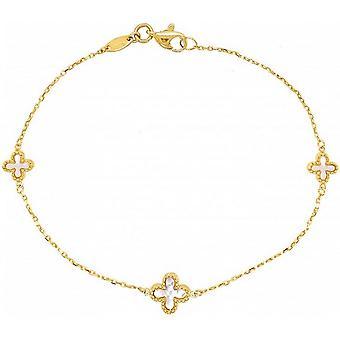 Mark Milton Mor av Pärla Blomma Armband - Guld