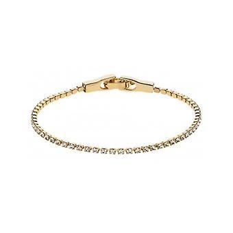 Traveller Tennis Bracelet Gold Plated Swarovski Crystals 157416 - 878