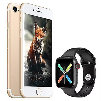 iPhone 7 Gold 128GB + Smartwatch X8 Black (Gift)