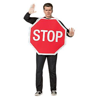 Adult Stop Sign Novelty Stag Night Fancy Dress Costume