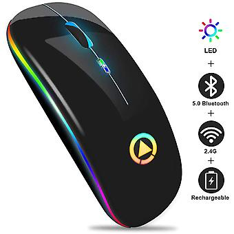 2.4ghz Wireless Mouse For Laptop Portable Mini Luminous Silent Mouse
