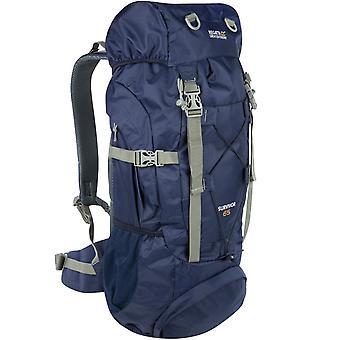 Regata Unisex Adultos 65L Mochila de mochila de caminhada ao ar livre - Marinha
