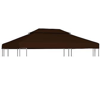 vidaXL 2-stage pavilion roof 310 g / m2 4x3 m brown