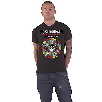 Iron Maiden T Shirt Book of Souls Live Chapter Band Logo Official Mens Black
