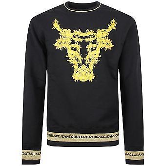 Versace Jeans Couture Cotton Black/gold Sweatshirt