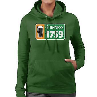 Guinness 1759 Irish Flag Women's Hooded Sweatshirt