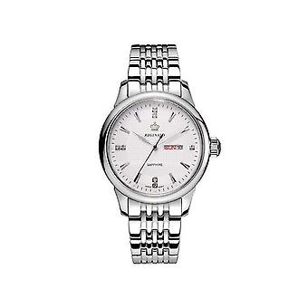 Reginald Mens Homage Quartz Watch White Silver Date Watches Designer Gift UK